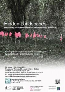 hidden landscapes exhibition poster