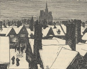 a romantic view of eighteenth century hitchin by f.l. griggs