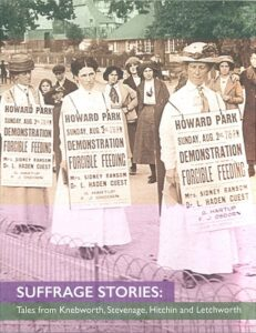 Cover of a book about women's suffrage in North Herts