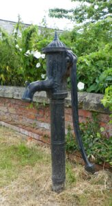 An iron water pump in Hexton